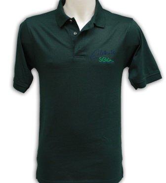 Poloshirt unisex altes Design grün