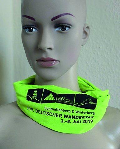 Schlauchschal grün, 119. DWT 2019