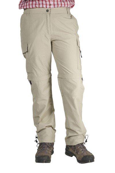 Zipp-Off Damen Trekkinghose, sand