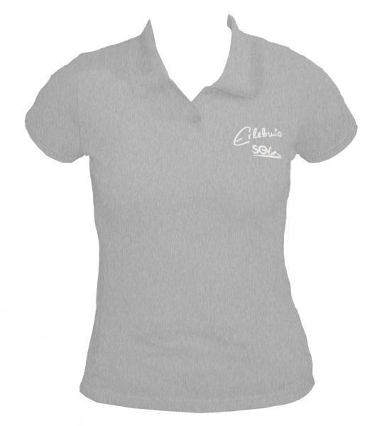 Poloshirt Damen grau