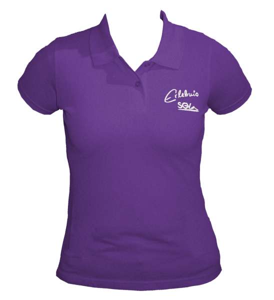 Poloshirt Damen purple