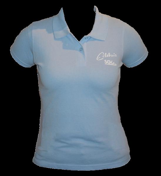 Poloshirt Damen hellblau
