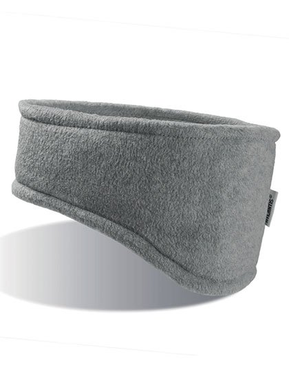 Stirnband Fleece grau
