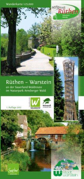 Wanderkarte Warstein und Rüthen