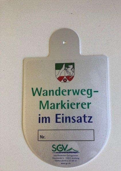 Dienst- und Einsatzschild Wegemarkierer