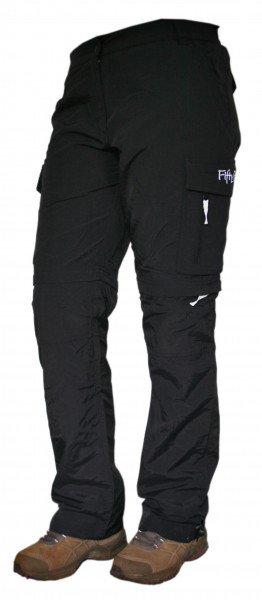 Zipp-Off Damen Trekkinghose, schwarz